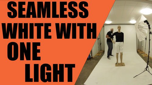 How To Shoot Seamless White With Just One Flash